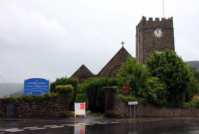 The Parish Church of St Mary the Virgin in Lynton