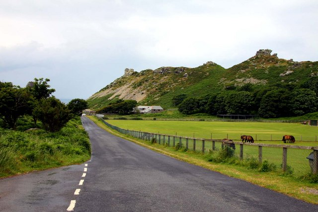 The road to the Valley of Rocks