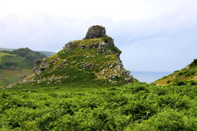 Castle Rock in the Valley of Rocks