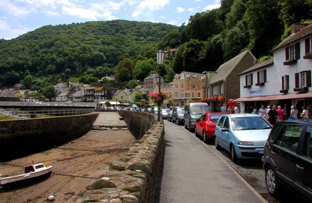 Cars parked on Lynmouth Street