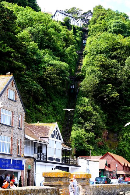 The Cliff Railway in Lynmouth