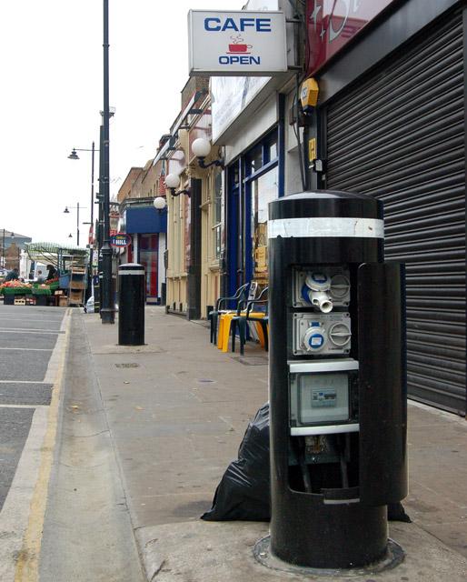 Power supply 'post' in Chapel Street, Islington