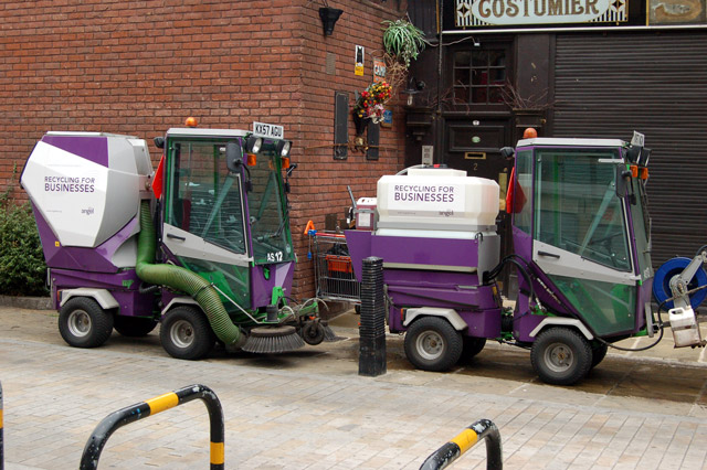 Roadsweeping machines in White Conduit Street, Islington