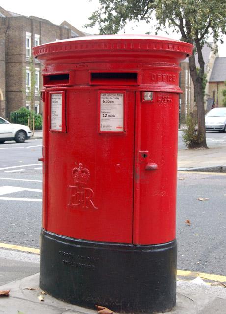 Postbox at corner of Penton Street and White Lion Street, Islington