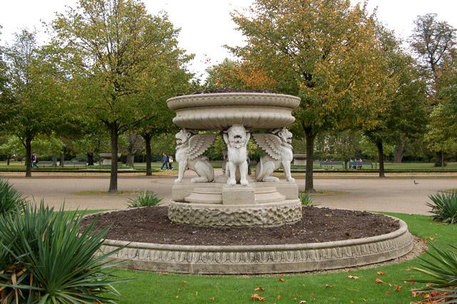Ornamental planter beside The Broad Walk, Regents Park