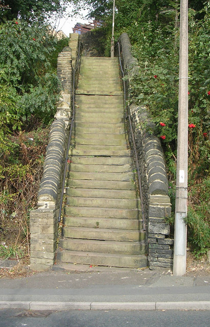 Steps leading up from New Bank