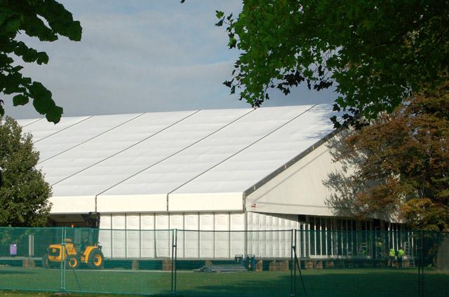 Preparing for Frieze Art Fair, Regents Park (2)