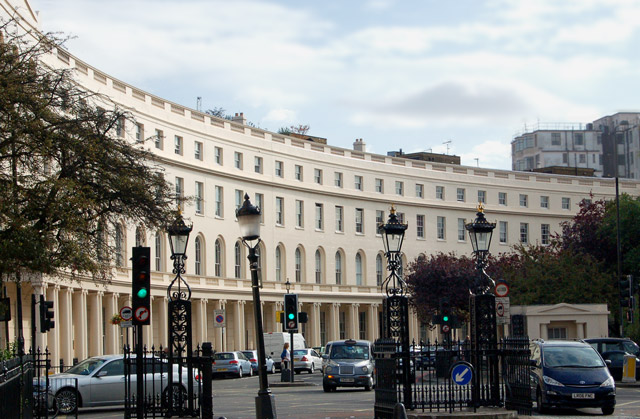 The east curve of Park Crescent, London