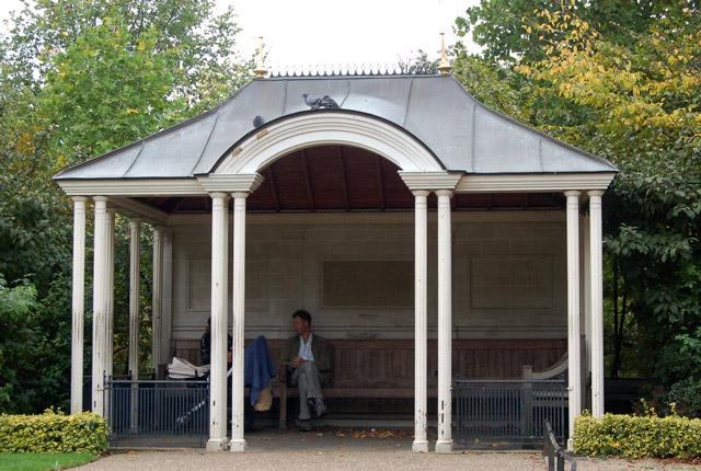 Pagoda shelter near The Broad Walk, Regents Park