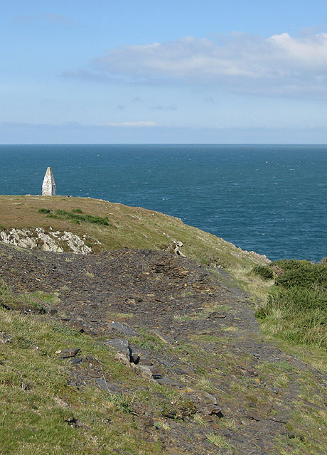 Navigation aid, west of Porthgain harbour