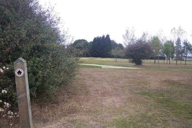 Footpath through Chestfield Golf Club