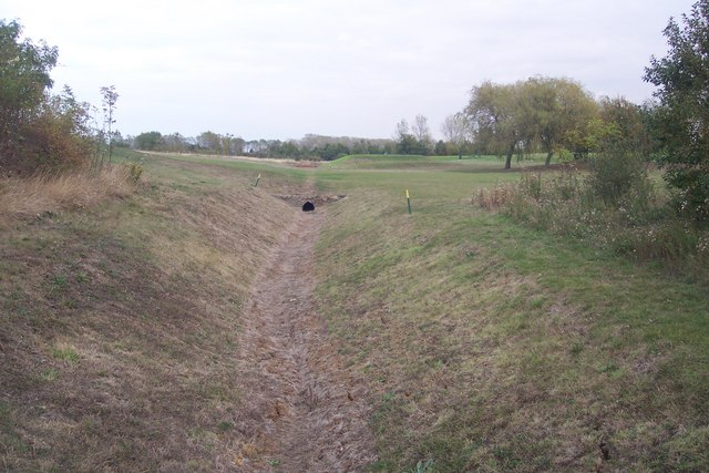 Ditch in Chestfield Golf Course