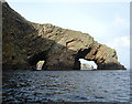 HU5381 : Natural Arches at the Horse of Burravoe by Andy Waddington