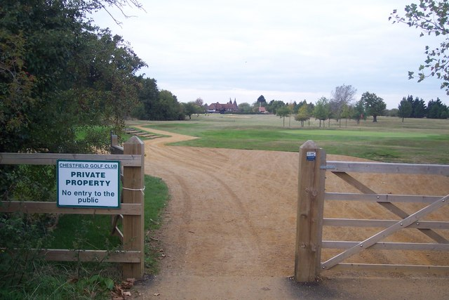 Path to Chestfield Golf Course