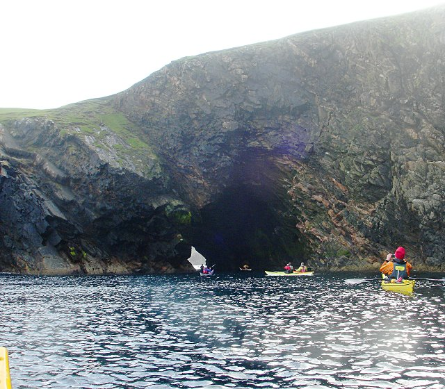 Sea cave under Point of Whitehill