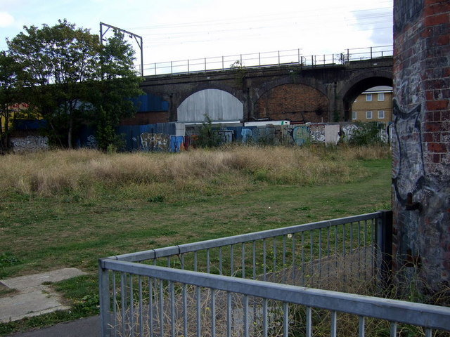 Railway viaduct at Mile End