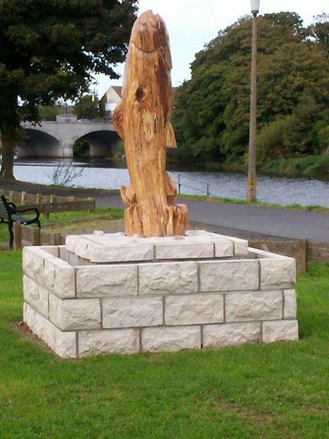 Trout carving p flannagan cc by sa geograph ireland
