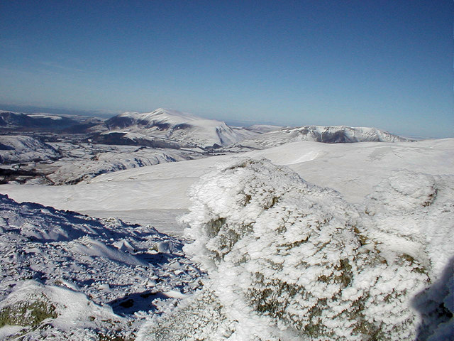 Skiddaw and Blencathra from Raise