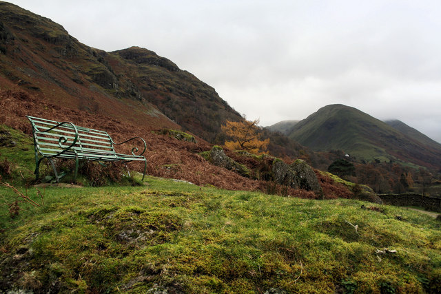 Seat near Dubhow Beck, Hartsop
