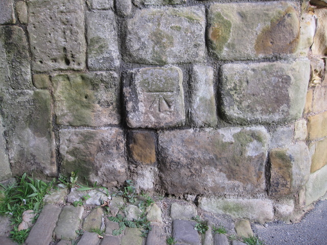 Possible 1GL bench mark on Scarborough Castle entrance