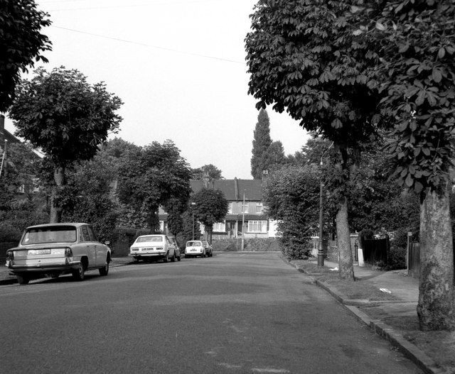 North end of Windermere Road, Coulsdon