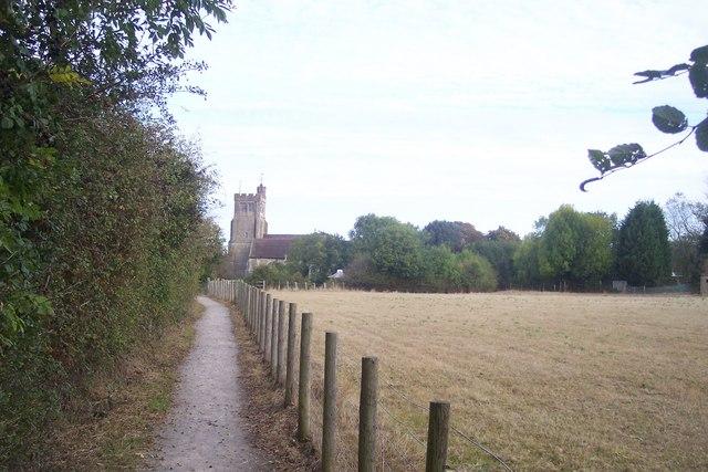 Footpath to Biddenden Church