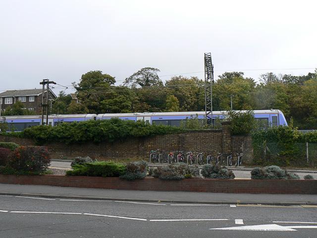 C2C train approaching Benfleet station