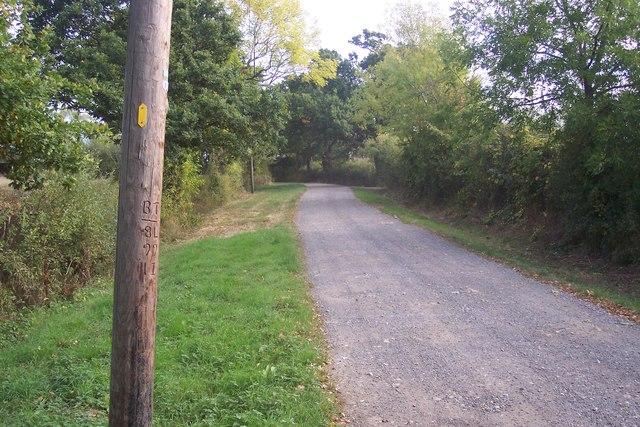 Farm road to Wagstaff Farm