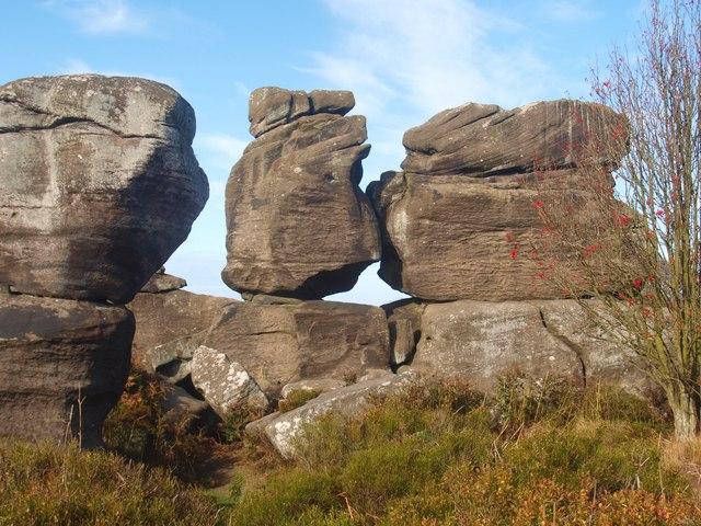 Millstone grit rock formation