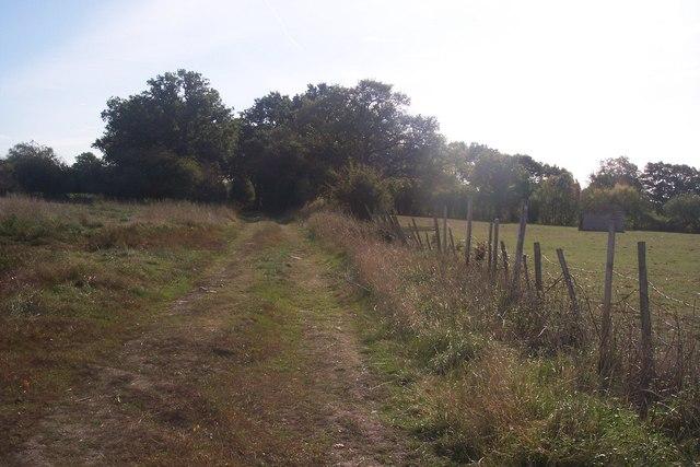 A bridleway to High Halden Road
