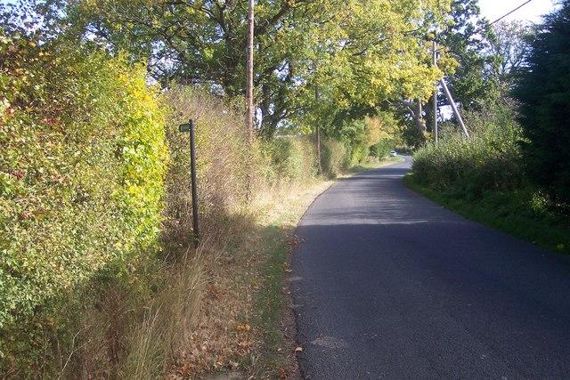 High Halden Road near Ledger Farm