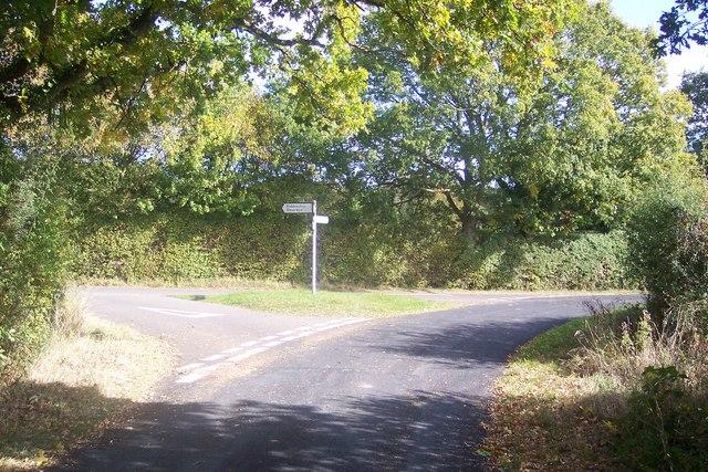 Lane junction on Cripple Hill