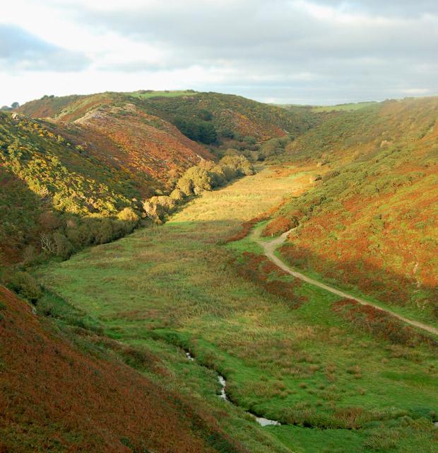 Gwadn valley from The Gribbin ridge