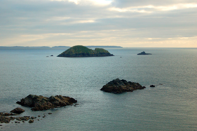 Looking across St Brides Bay from Solva