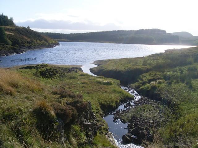 Burn flowing into Burncrooks Reservoir