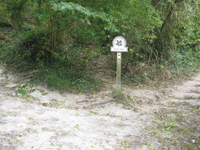 National Trust sign for Devil's Dyke