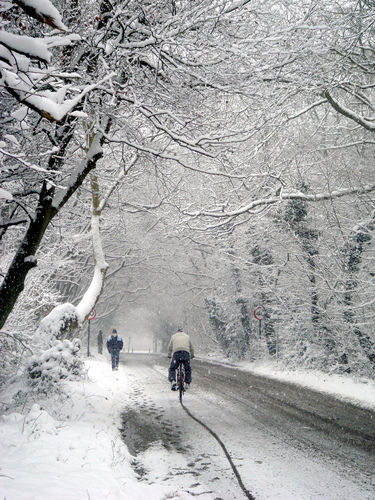 Lye Lane in the snow