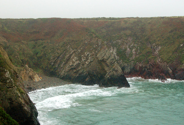 Caerfai Bay from the west