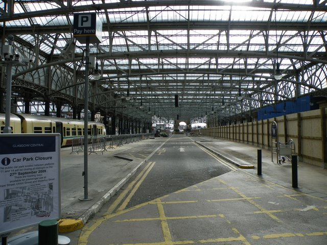 Former car park at Glasgow Central
