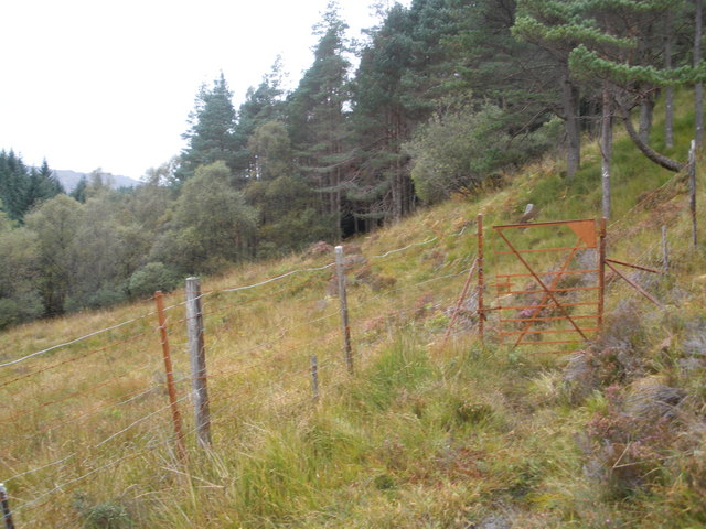 Locked gate on the obscured path