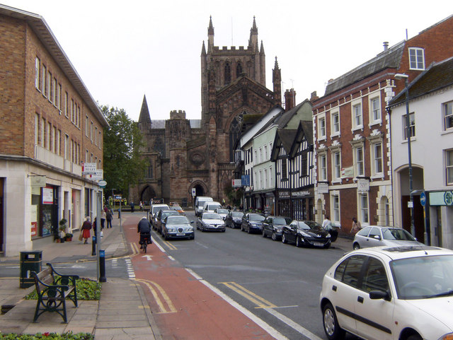 Hereford Cathedral from King Street