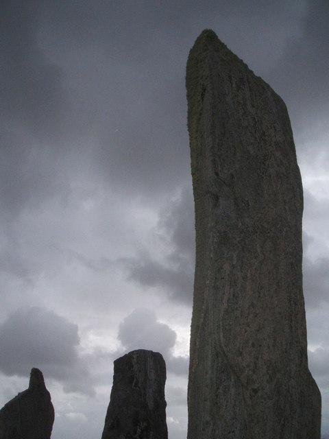 Stones with lichen, Callanish