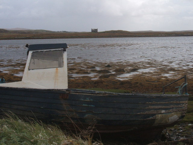 Ruin and beached boat