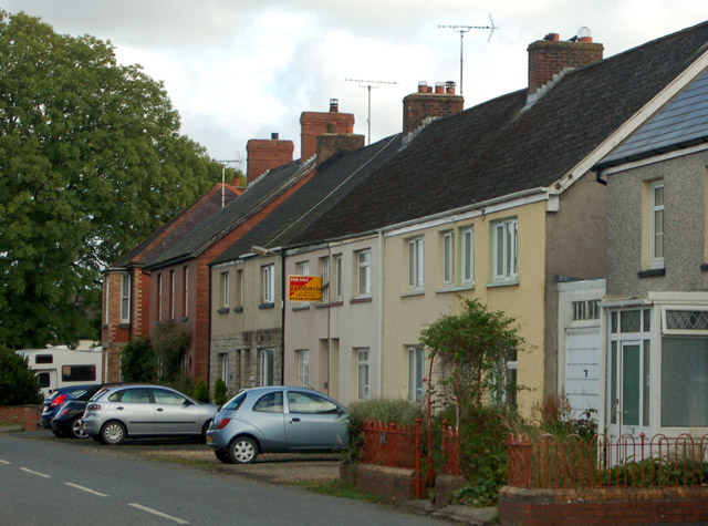 Cottages near the railway station, Clarbeston Road