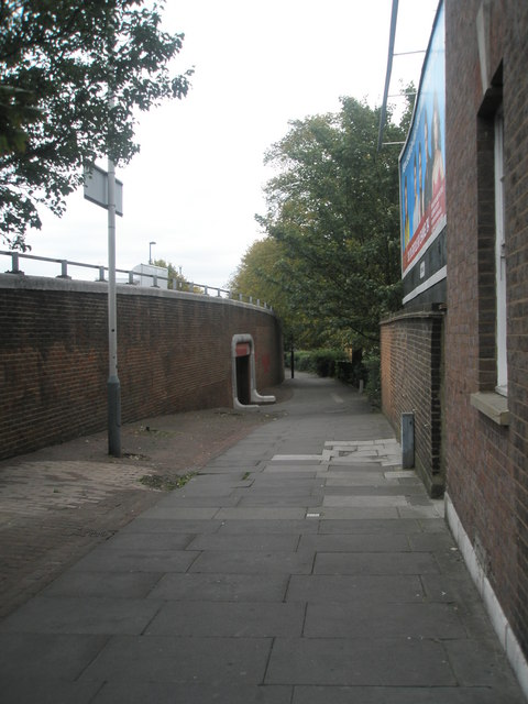 Approaching the underpass at Southall Bridge