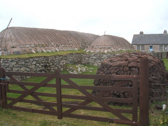 Stacked peat at Black House Museum