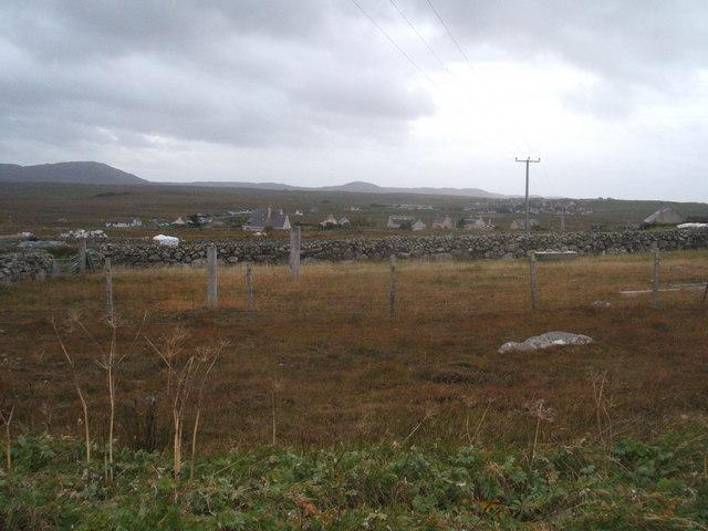 Enclosure walls and fences at Arnol