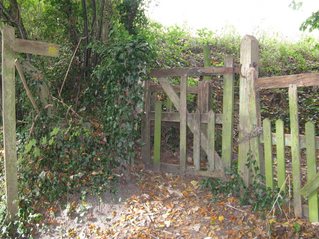 Old wooden kissing gate