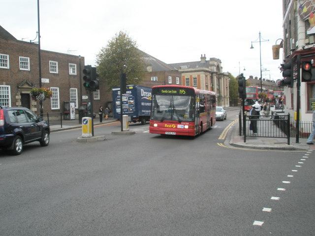 195 bus passing Glassy Junction