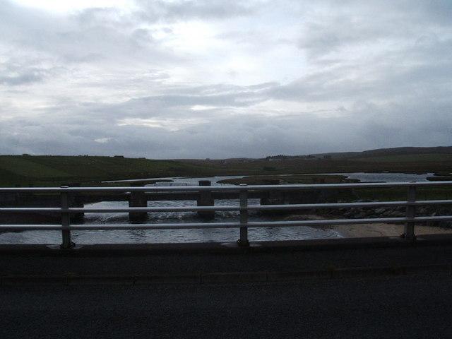 Old bridge over Bac Saltings